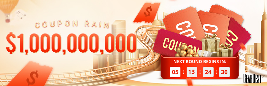 Gearbest $1,000,000,000 Coupon Rains! Never Miss promotion