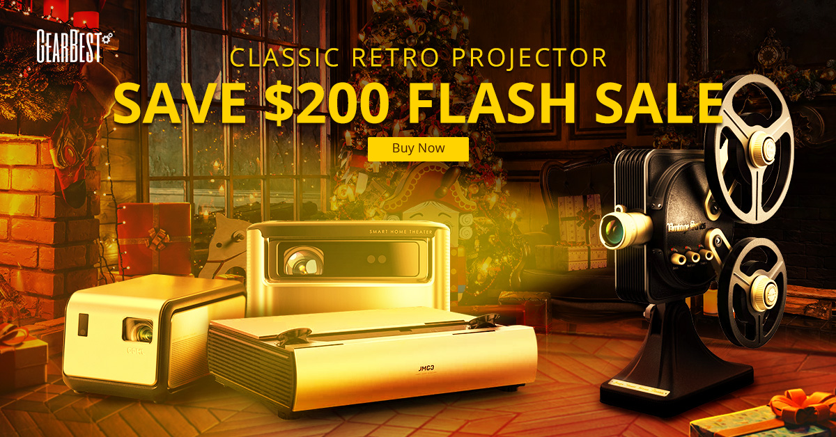 Gearbest Save $200 Flash Sale on Projector promotion