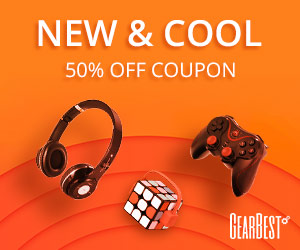 Gearbest 50% OFF Coupon on New & Cool promotion