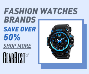 Gearbest Save Over 50% on Fashion Watches Brand promotion