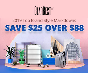 Gearbest 2019 Top Brand Style Markdown: Save $25 Over $88 promotion