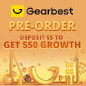 Gearbest Deposit $5 to Get $50 Growth promotion