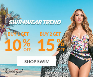 Buy 1 Get 10% Off; Buy 2 Get 15% Off Swimwear Trend promotion