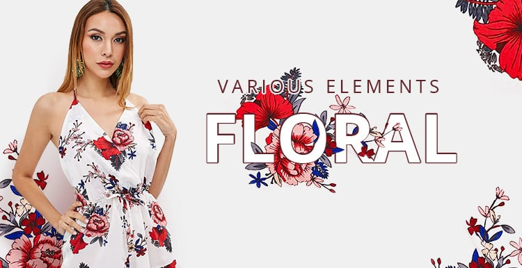 Floral Print Trend promotion