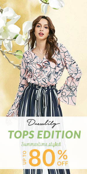 Up to 80% OFF for Styled Summer Tops on DressLily! promotion