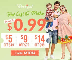 Down To $0.99+$5 off $49, $9 off $79, $14 off $99 Mother's Day Sale promotion