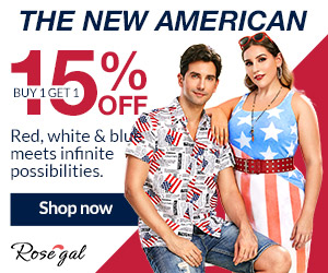 Buy 1 Get 1 15% Off American Flag Special Sale promotion