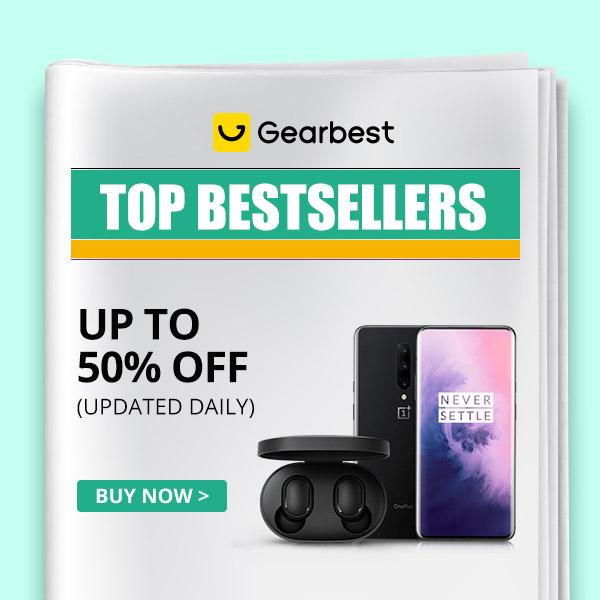 Gearbest Meilleures offres jusqu'à 50% de réduction promotion