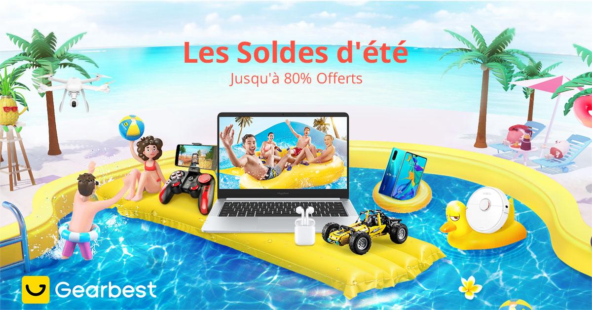 Gearbest Les Soldes d'été jusqu'à 80% réduction promotion