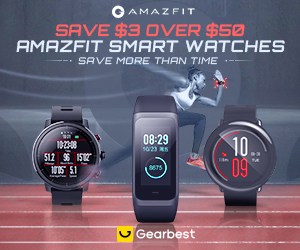 Gearbest Amazfit SmartWatch: Save $3 Over $50 promotion