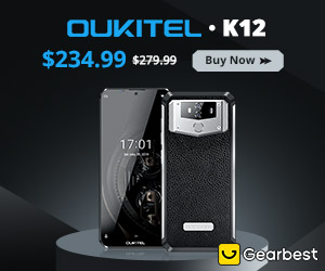 Gearbest $239.99 for OUKITEL K12 4G Phablet 6.3 inch Drip Screen Android 9.0 promotion
