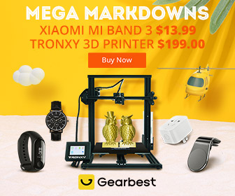 Gearbest Mega Markdowns: Xiaomi Mi Band 3 @13.99 promotion