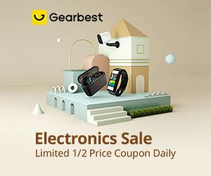 Gearbest Cupom de Preço 1/2 Limite Diário: Venda de Eletrônico promotion