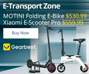 Gearbest Zona de E-transporte promotion
