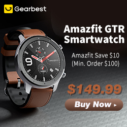 Gearbest Saved $10 0ver $100 for Amazfit GTR Smart Watch promotion