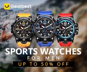 Gearbest Sports Watches for Men: Up to 50% OFF promotion
