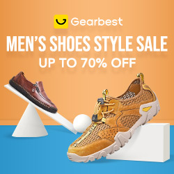 Gearbest Up to 70% OFF for Men's Shoes promotion