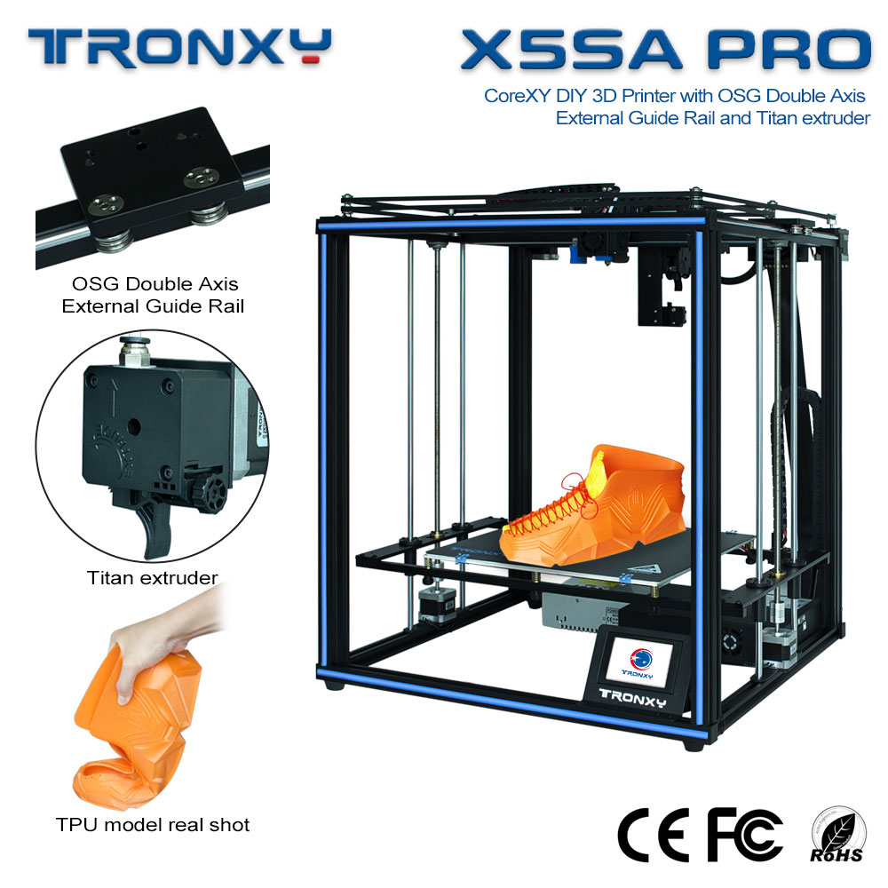 Gearbest Tronxy New upgraded CoreXY guide rail FDM 3d printer TRONXY X5SA PRO Titan extruder - X5SA pro CN promotion