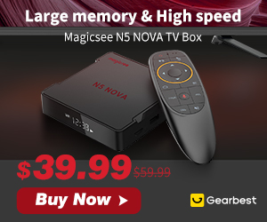 Gearbest $39.99 for Magicsee N5 NOVA TV Box -2.4G Voice Remote with Air Mouse promotion
