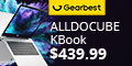 Gearbest Pre-order Price $439.99 for ALLDOCUBE Kbook 13.5 inch 3K IPS Display Laptop with 512GB SSD promotion