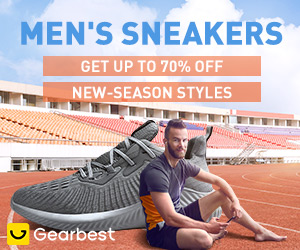 Gearbest Men's Sneakers: Get Up to 70% OFF promotion