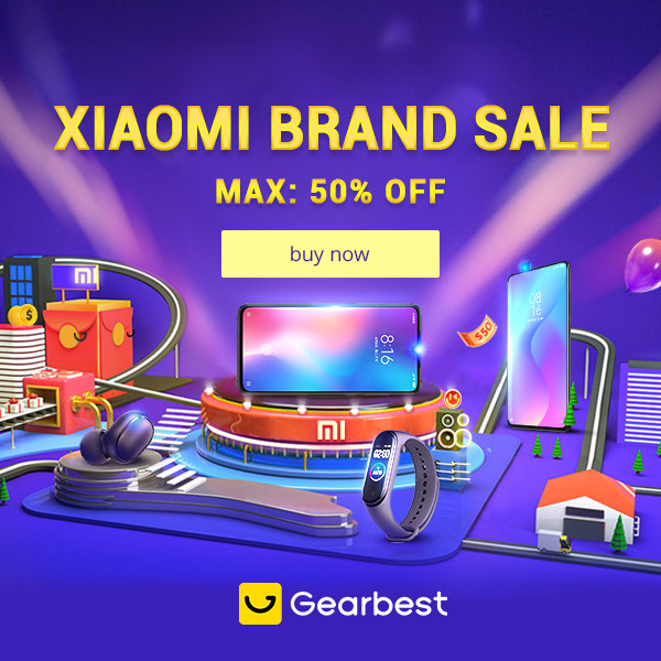 Gearbest Xiaomi Brand Sale Max 50% OFF promotion