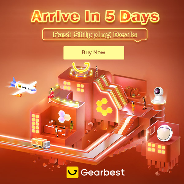 Gearbest Arrive in 5 Days Fast shipping Deals promotion
