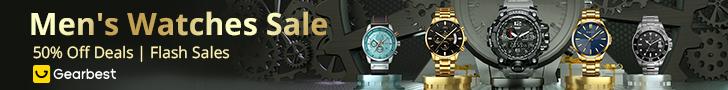 разпродажба на мъжки часовници Gearbest: Промоция до 50%