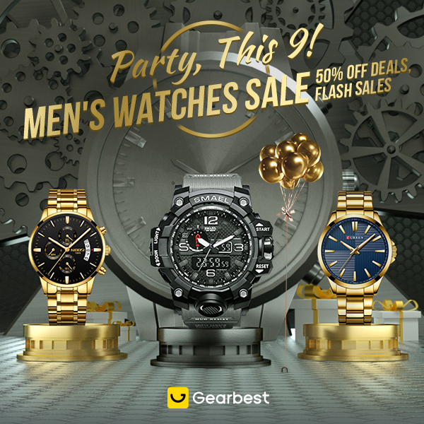 Gearbest Men's Watches Sale: Up to 50% Deals promotion