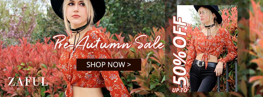 Pre-Autumn Sale promotion
