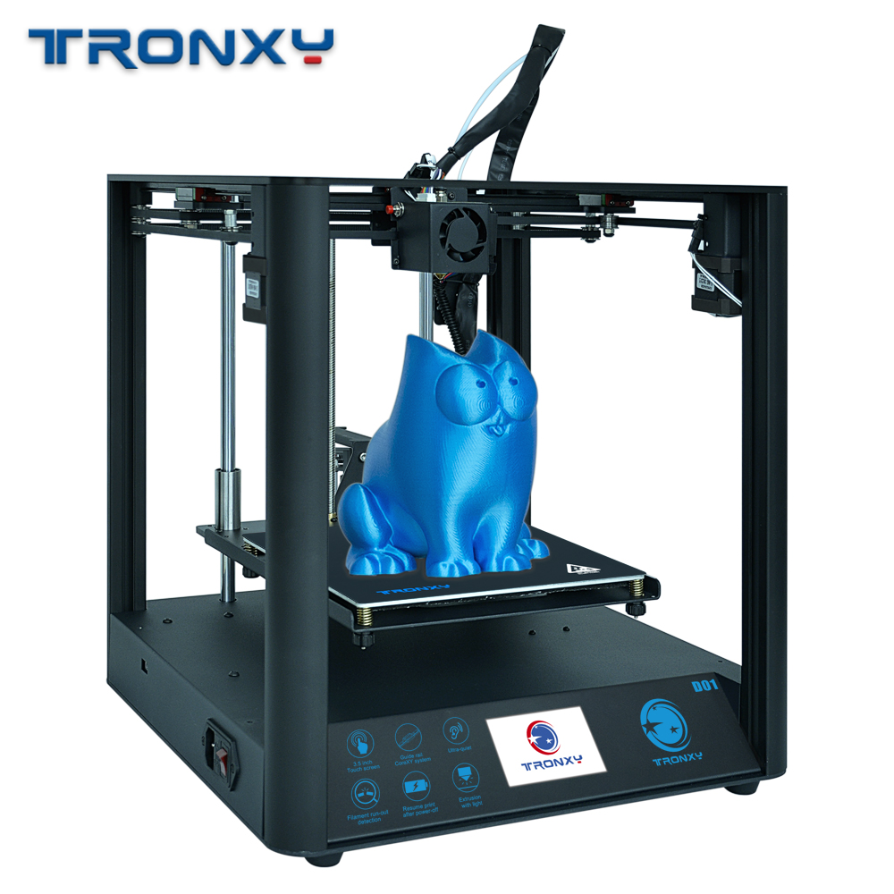 Gearbest Tronxy Industrial Linear Guides D01 3D Printer Ultra-quiet Motherboard can print Flexible filament – D01 CN promotion