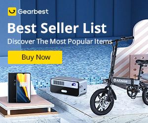 Gearbest Lista dos Mais Vendidos promotion