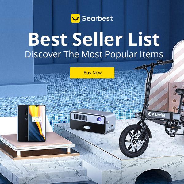 Gearbest Best SELLER ELENCO-Scopri la promozione degli articoli più popolari