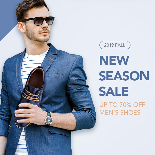 Gearbest New Season Sale,Up To 70% Off Men's Shoes promotion