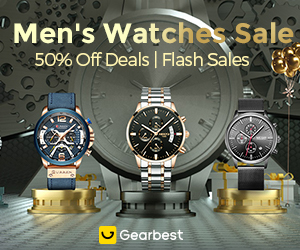 Gearbest The Best Affordable Watch Brands For Men, Flash Sale Up to 50% Off promotion