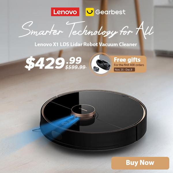 Gearbest Lenovo X1 LDS Lidar Robot Aspirateur :429.99$ promotion