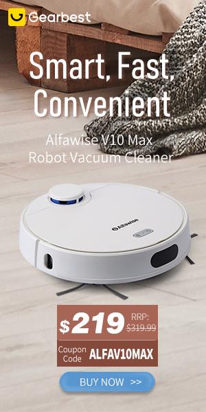 Gearbest Alfawise V10 Robot Cleaner promotion