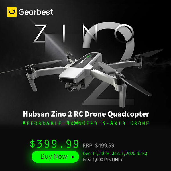 Gearbest Hubsan Zino 2 RC Drone Quadcopter promotion