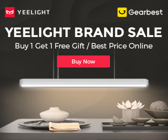 Gearbest Yeelight Brand Sale promotion