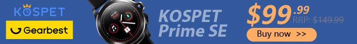 Gearbest Kospet Prime SE promotion