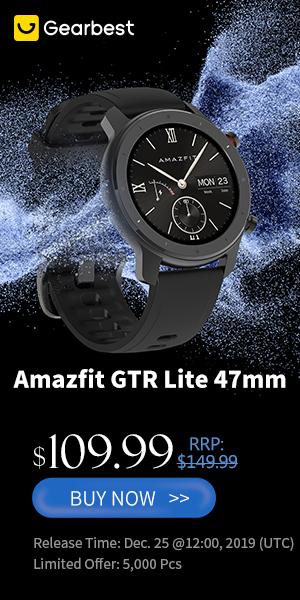 Gearbest Amazfit GTR Lite $109.99 promotion