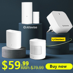 Gearbest Alfawise Z1 Smart Home Security Kit Wi-Fi Zigbee Gateway Door Window Sensor promotion