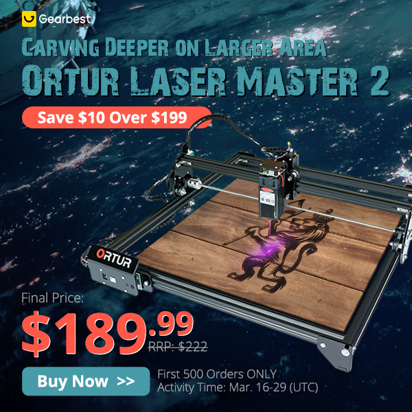 Gearbest ORTUR Laser Master 2 promotion