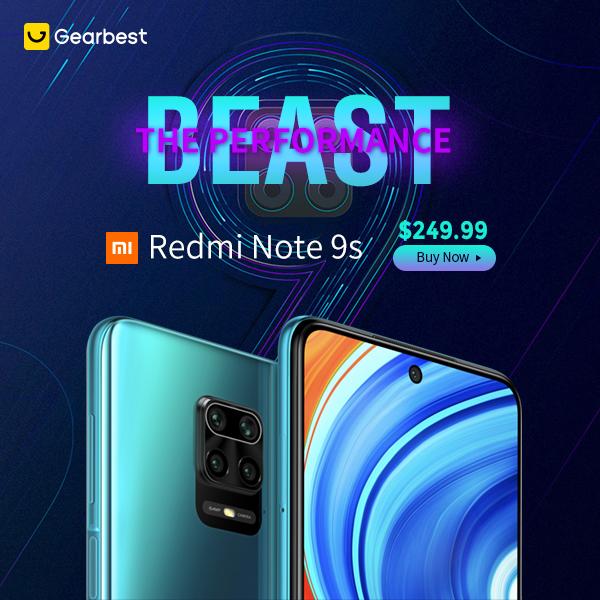 Gearbest Newest Xiaomi Redmi Note 9S promotion