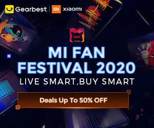 Gearbest Mi Fan Festival 2020 promotion