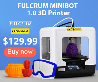 Gearbest FULCRUM MINIBOT 1.0 Mini Educational Full Assembled FDM 3D Printer promotion