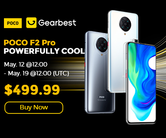 Gearbest POCO F2 Pro 5G Smartphone promotion