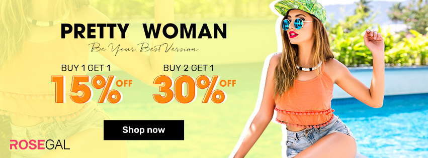 Pretty Woman BUY 1 GET 15% OFF,BUY 2 GET 30% OFF promotion