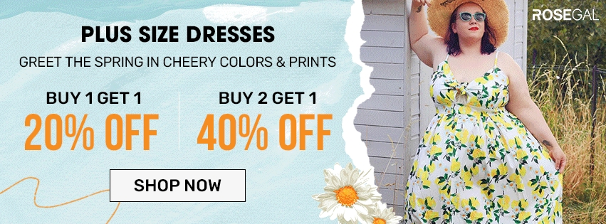 Plus Size Dresses--BUY 1 GET 20% OFF,BUY 2 GET 40% OFF promotion