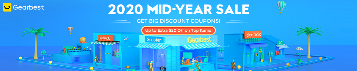 Gearbest 2020 Mid-Year Sale promotion